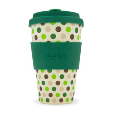 Bambusz ecoffee cup Zöld pöttyök