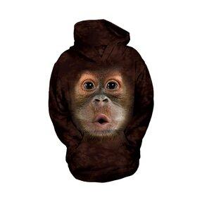 Kinder Sweatshirt mit Kapuze Orang-Utan