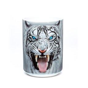 Eredeti mintás bögre Fehér tigris arca