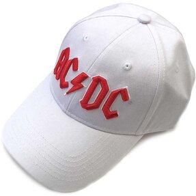 Biela šiltovka AC/DC Men's Red Logo