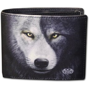 Herren Geldbörse Das Gesicht eines Wolfes