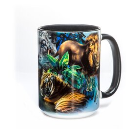 Originelle Tasse mit dem Motiv Big Jungle Cats