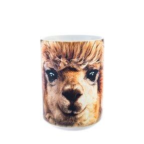 Originální hrníček s motivem Tvář lamy alpaca