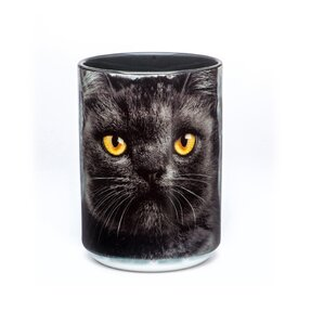 Originální hrníček s motivem Tvář černé kočky