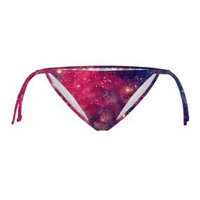 Bikini spodní díl na zavazování Fialová galaxie