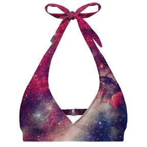 Nyakba kötős bikini felső Lila galaxis