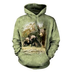 Mikina s kapucí Medvědice s mláďaty