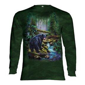 Langarm T-Shirt Bär im Wald