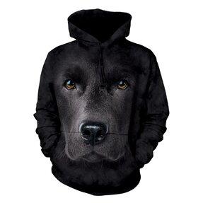 Sweatshirt mit Kapuze Gesicht des Schwarzen Labradors
