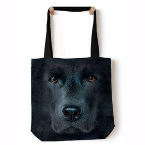 Schultertasche Tote Gesicht des schwarzen Labradors