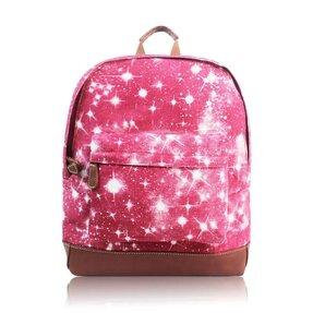 Bordový  batoh s jednou kapsou Hvězdná obloha