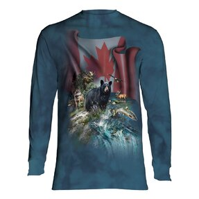 Tričko s dlhým rukávom Kanadská krása