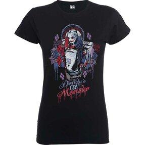 Damen T-Shirt Schwarz DC Comics Suicide Squad Daddy's Lil Monster