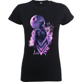 Fekete Rogue One Jyn Death Star Gyerek póló