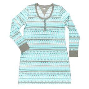 Dámska nočná košeľa s dlhým rukávom Snehuliak