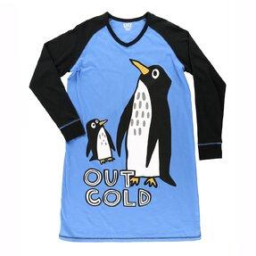 Dámska nočná košeľa s dlhým rukávom Tučniaky na ľadovci