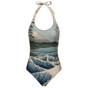 Dámske plavky s otvoreným chrbtom More Satta