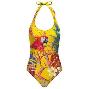Dámské plavky s odhalenými zády Papoušci v ráji