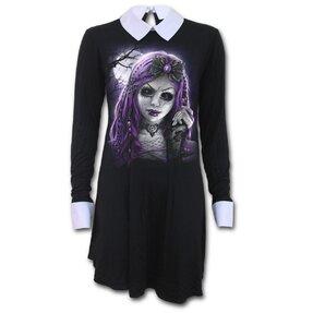 Dámske šaty s golierom Goth doll