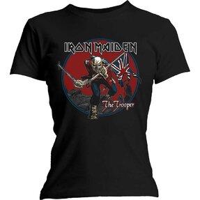 Damen T-Shirt Iron Maiden Trooper Red Sky