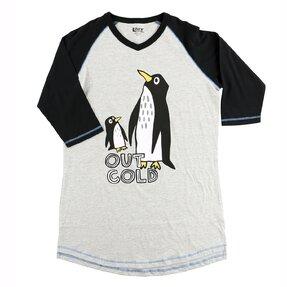 Női póló alvásra Pingvinek a gleccseren
