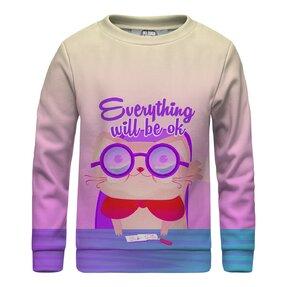 Kinder Sweatshirt ohne Kapuze Everything Will Be Ok