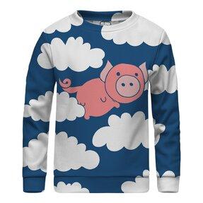 Kinder Sweatshirt ohne Kapuze Flying Pigs