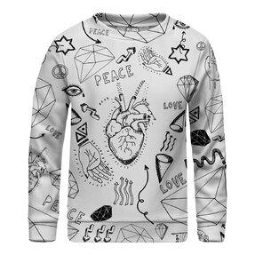 Kinder Sweatshirt ohne Kapuze Love Icons