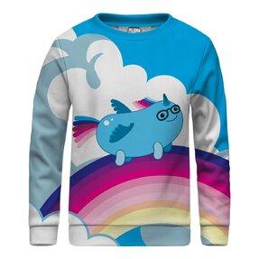 Kinder Sweatshirt ohne Kapuze Sausage Unicorn