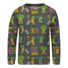 Kinder Sweatshirt ohne Kapuze Vegetables Power
