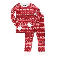Detské dvojdielne pyžamo Vianočný motív s losom