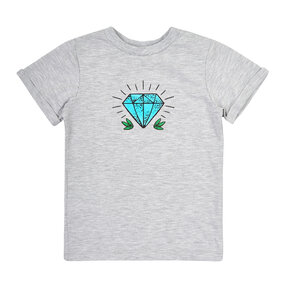 Kinder T-Shirt Grau Diamant