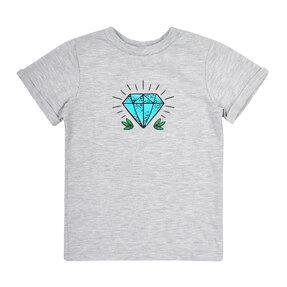 Dětské šedé tričko Diamant