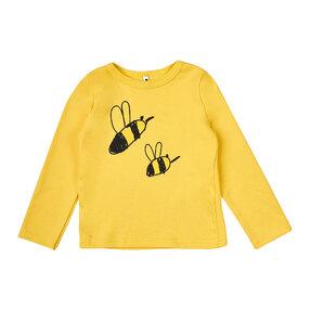 Detské žlté tričko s dlhým rukávom Včielky