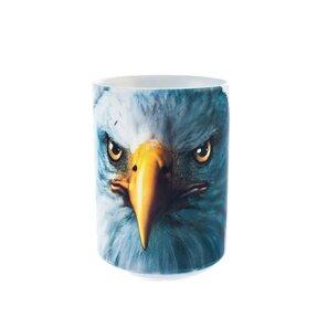 Originelle Tasse mit dem Motiv Gesicht des Adlers