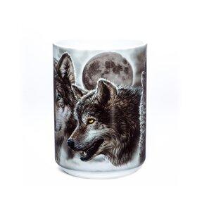 Originálny hrnček s motívom Vlky a zatmenie mesiaca