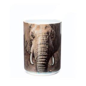 Originelle Tasse mit dem Motiv Gesicht des Elefanten