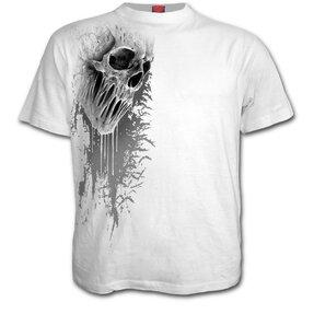 Biele tričko Prekliata lebka
