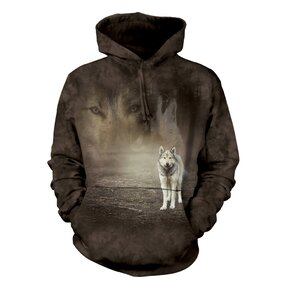 Sweatshirt mit Kapuze Wolfsleben