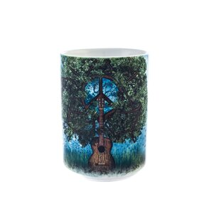 Originálny hrnček s motívom Gitarový strom