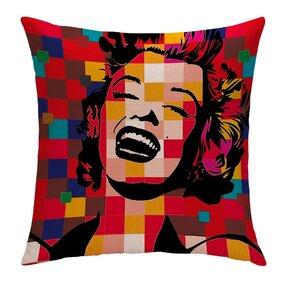 Jednostranný povlak na polštář Úžasná Marilyn