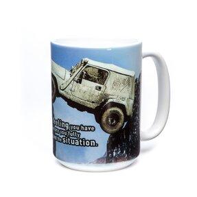 Originelle Tasse mit dem Motiv Jeep