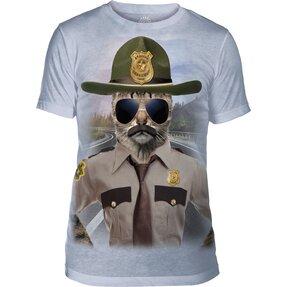 Tri-blend tričko Mačka policajt