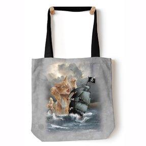 Tote taška na rameno Mačka Kraken