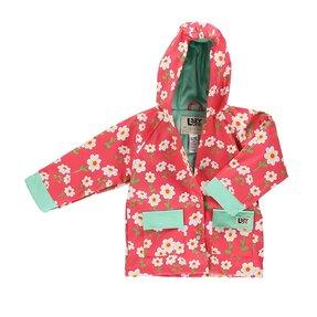 Dětský kabátek do děště Květy