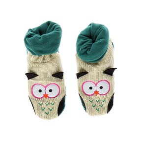 Teplé flisové papuče Sova