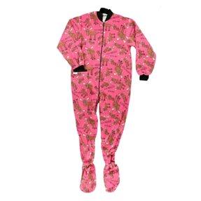 Růžový dupačkový overal pro dospělé Frajer los