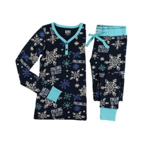 Dámske Dvojdielne termo pyžamo Vločky