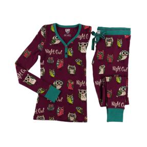 Dámske Dvojdielne termo pyžamo Sovičky
