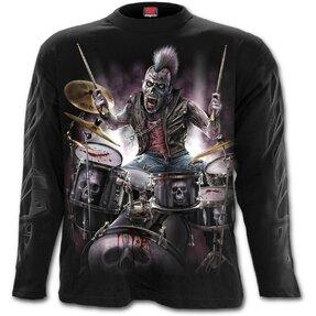 Tričko s dlhým rukávom Zombie bubeník